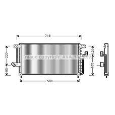 AVA QUALITY COOLING mt5098 (MB813733 / MR116930) радиатор кондиционера