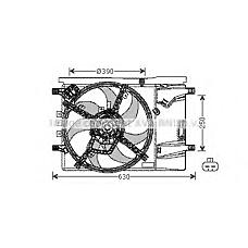 AVA QUALITY COOLING OL7539 (1341390 / 1341394 / 1341397) вентилятор охлаждения двигателя