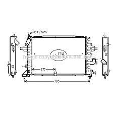AVA QUALITY COOLING OLA2383 (1300271 / 13152320) радиатор системы охлаждения\ Opel (Опель) Astra (Астра) 1.9cdti 04>