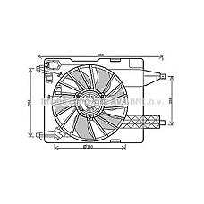 AVA QUALITY COOLING RT7539 (7701044185 / 7701054966 / 7701054967) вентилятор охлаждения\ Renault (Рено) Megane (Меган) 1.4-2.0 02>