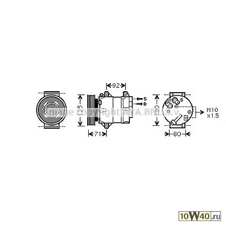 AVA QUALITY COOLING RTAK103 (7711135105 / 8200050141 / 8200316164) компрессор кондиционера