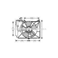 AVA QUALITY COOLING TO7539 (1636323020 / 1636121080 / 1671121030) вентилятор охлаждения\ Toyota (Тойота) Yaris (Ярис) 1.3 / 1.5 99-05