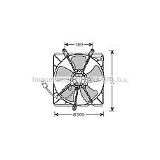 AVA QUALITY COOLING to7540 (1636102110 / 8855033010 / 1671102070) электро вентилятор кондиционера