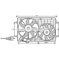 AVA QUALITY COOLING VW7528 (1K0959455DG / 1K0959455ES / 1K0959455R) вентилятор охлаждения двигателя