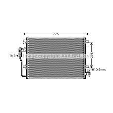 AVA VWA5277 (2E0820413 / 9065000054) радиатор кондиционера
