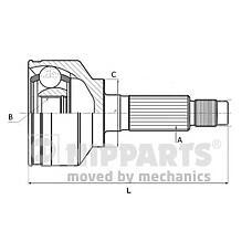NIPPARTS J2821038 (39211AY625 / 39211BC50J / 39211BC625) шрус наружный к-кт\ Nissan (Ниссан) Micra (Микра) 1.5d 03>