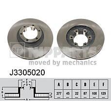 NIPPARTS J3305020 (MB407038 / MB407039 / HB403101) диск тормозной
