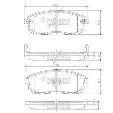 NIPPARTS J3601044 (4106089E91 / 4106055F90 / 572346) колодки тормозные Nissan (Ниссан) Maxima (Максима) 3.0 91>94 / Maxima (Максима) qx 95>02 с индикат.износа пер.