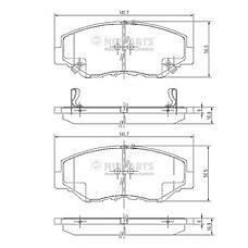 NIPPARTS J3604061 (45022S9AA01 / 45022S9AE50 / 45022S9AE60) колодки дисковые передние\ Honda (Хонда) cr-v II 2.0 / 2.2cdti 02>