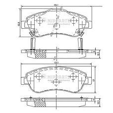 NIPPARTS N3604066 (45022SWWG01 / 45022SWWG02 / 45022SHJA50) колодки тормозные передние