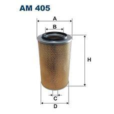 FILTRON AM 405 (112294 / 2165054 / 81083040064) фильтр воздушный h383 d227 / d117\ daf, iveco, rvi, steyr