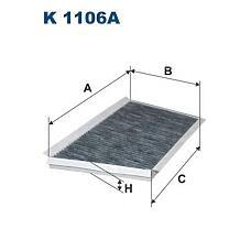 FILTRON K 1106A (2038300118 / 2038300918 / A2038300918) фильтр салона угольный\ mb w203 / s203 / c209 all 00>