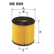 FILTRON OE 669 (15208AD200 / 152085M300 / 15208AD20A) фильтр масляный\ Nissan (Ниссан) Almera (Альмера) / Almera (Альмера) tino 2.2vdi 16v 00>