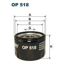FILTRON OP 518 (X18 / 7701033837 / 7701348108) фильтр масляный\ Renault (Рено) r4 / r5 / r12 / r15 / r6 / r18 0.8-1.4 <84