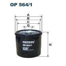 FILTRON OP 564/1 (25181616) фильтр масляный \ Chevrolet (Шевроле) spark 0.8-1.2 05> / aveo 1.2 08>