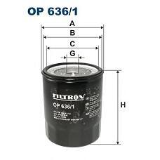 FILTRON OP 636/1 (ME014833 / ME004099 / 5132110180) фильтр масляный\ isuzu trooper / campo 2.2d 83-90