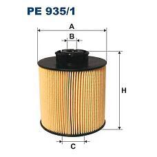 FILTRON PE9351 (9060900051 / 9060920105 / 9060920205) фильтрующий элемент топлива бумажный \mb811.712 / 715 / 812 / 815 / 1215 atego om904la 96->