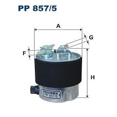 FILTRON PP 857/5 (16400JD50A / 16400JD52A) фильтр топливный без датчика\ Nissan (Ниссан) qashqai / x-trail 2.0dci 07>