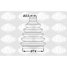 SASIC 1900011 (3293A3 / 31607518245 / 39241AY125) пыльник шрус, комплект