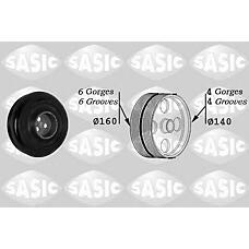 SASIC 2150024 (1387095 / 6C1Q6B319CC / 0515T1) шкив коленвала\ Citroen (Ситроен) jumper, Peugeot (Пежо) Boxer (Боксер) 2.2hdi 06>