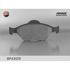 FENOX BP43029 (1101464 / 1101462 / 1128463) колодки дисковые передние\ Ford (Форд) Fiesta (Фиеста) 1.3-1.6 / 1.4tdci / 1.8di 00>