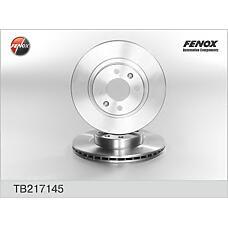 FENOX TB217145 (7700715081 / 7701204283 / 7701201283) диск тормозной передний\ Renault (Рено) Espace (Эспейс) 2.0-2.1td 84-96