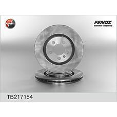 FENOX TB217154 (1H0615301A / 1H0615301 / 357615301A) диск тормозной передний\ VW Golf (Гольф) / Passat (Пассат) / vento 2.0 / 2.8 / 2.9 92>