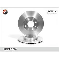 FENOX TB217894 (402060M801 / 402060M802 / 230456) диск тормозной передний Nissan (Ниссан) Almera (Альмера) (n15)
