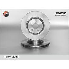 FENOX TB219210 (4351205070 / 4351205050 / 4351205110) диск тормозной передний 2.4 / 2.0d-4d (к-кт 2 шт., цена за 1 шт.)