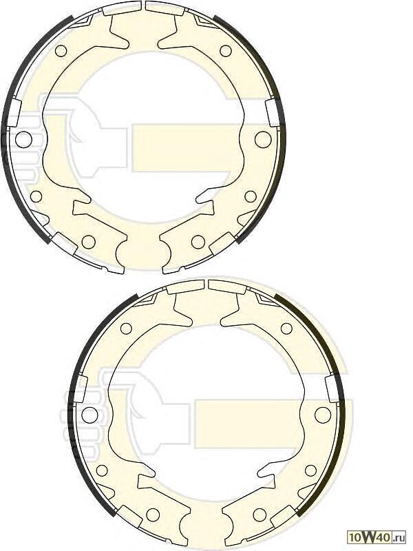 Колодки ручника барабанные HONDA Accord VIII