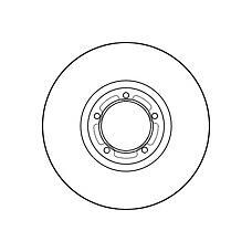 GIRLING 6027851 (5029816 / 561625J) диск тормозной Ford (Форд) Transit (Транзит) 91-00 r15 передний вент.d=270мм.