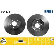 GIRLING 6044241 (1323560 / 1253965 / 1223664) диск торм пер вент Focus (Фокус) II / c-max
