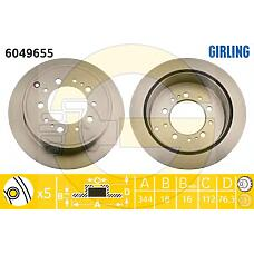 GIRLING 6049655 (4243160290) диск тормозной Toyota (Тойота) Land Cruiser (Ленд Крузер) j200 4.5d / 4.7 07- / Lexus (Лексус) lx570 08- задний