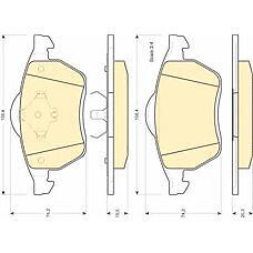 GIRLING 6112042 (7M0698151 / 1031843 / 1001095) колодки тормозные передние VW Sharan (Шаран) Ford (Форд) Galaxy (Галакси) 95>06