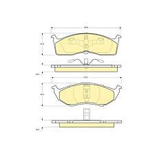 GIRLING 6112363 (4773264 / 4762682 / 04882107) колодки тормозные Chrysler (Крайслер) 300m / Voyager (Вояджер) / dodge caravan передние