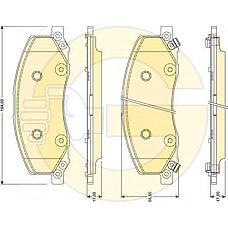 GIRLING 6117811 (13237752 / 1605202) колодки тормозные передние Opel (Опель) insignia 08- Saab (Сааб) 9-5 10- r18