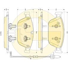 GIRLING 6118842 (4H0698151E / 4H0698151H / 8R0698151F) колодки тормозные Audi (Ауди) a8 3.0-4.2 (1lj) 09- передние