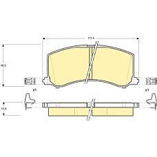 GIRLING 6130919 (5580061G60 / 5580061G70 / 5580061G50) колодки тормозные передние Suzuki (Сузуки) baleno 95-02
