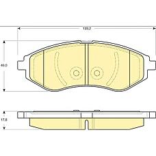 GIRLING 6133309 (96534653 / 94566892 / 96534853) колодки тормозные Chevrolet (Шевроле) aveo 1.2-1.4 06- передние