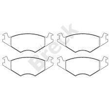 BRECK 208890070200 (191698151E / 191698151F / 191698151) колодки тормозные дисковые