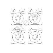 BRECK 213050070420 (0024200520 / 0024201620 / 0024204620) колодки тормозные дисковые