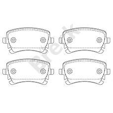 BRECK 23326 00 702 00 (8E0698451C / 4F0698451F / 4B3698451) колодки дисковые задние\ Audi (Ауди) a4 / a6 2.8-4.2 / 3.0tdi 02>
