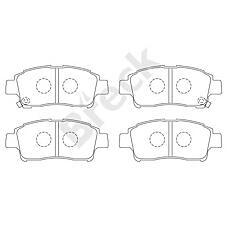 BRECK 23348 00 701 10 (0446513020 / 044650W050 / 0446513050) колодки дисковые передние Toyota (Тойота) Yaris (Ярис) 1.0i / 1.3i / 1.5wti / 1.4d 99-01