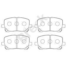 BRECK 23836 00 701 00 (0446544060 / 0446544090 / 04465YZZCT) колодки дисковые передние Toyota (Тойота) Avensis (Авенсис) verso 2.0i / d4-d 01>