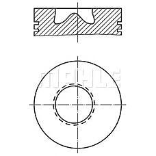 MAHLE ORIGINAL 0028100 (3660309717 / 3660301818 / 3660301418) поршень (комплект) 97,5 mm
