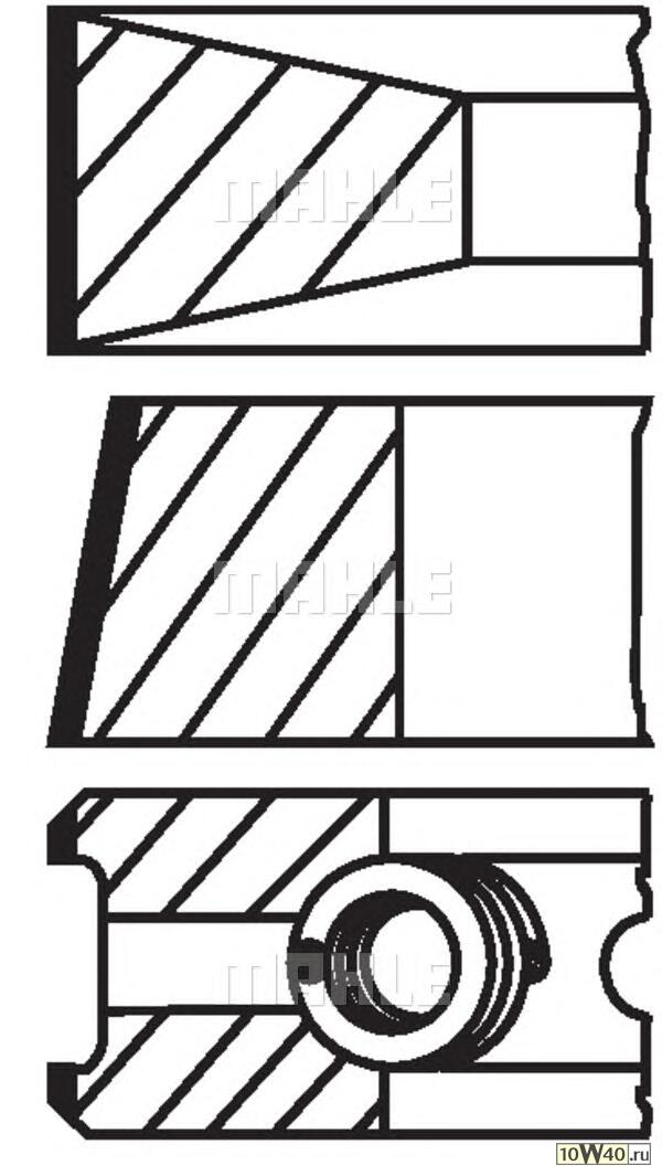 кольца порш. \ citroen jumper, fiat ducato 2.8td 99> d94.4x2.5x2x2.5 std (1)