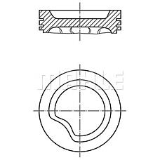 MAHLE ORIGINAL 011 06 12 (0110612) поршень d77.6x1.5x1.5x3 +1.0\ Opel (Опель) kadett / Astra (Астра) / vectra 1.4 88>