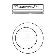 MAHLE ORIGINAL 011 75 01 (624217 / 90410656 / 90421576) поршень d86x1.5x1.5x3 +0.5\ Opel (Опель) Omega (Омега) / Astra (Астра) / vectra 2.0 86>