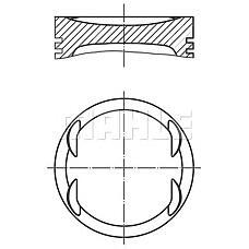 MAHLE ORIGINAL 0121903 (55355071 / 55351108 / 55351109) поршень Opel (Опель) z14xep d73.4+0.50