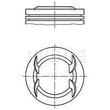 MAHLE ORIGINAL 012 22 00 (55351786 / 55351787 / 55351788) поршень d73.4x1.2x1.2x2 std\ Opel (Опель) agila / Corsa (Корса) 1.2 xep 98>